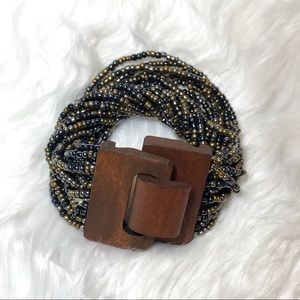 Jewelry - Adjustable Beaded Wooden Multi-strand Bracelet